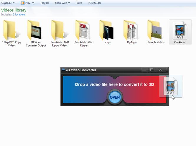 3D Video Converter Screenshot 1