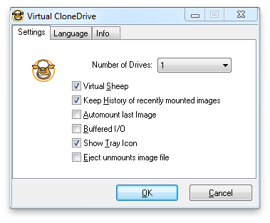 Virtual CloneDrive Screenshot