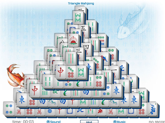 Triangle Mahjong Screenshot