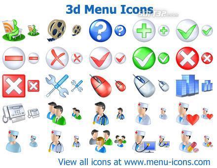 3d Menu Icons Screenshot 3