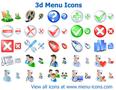 3d Menu Icons 1