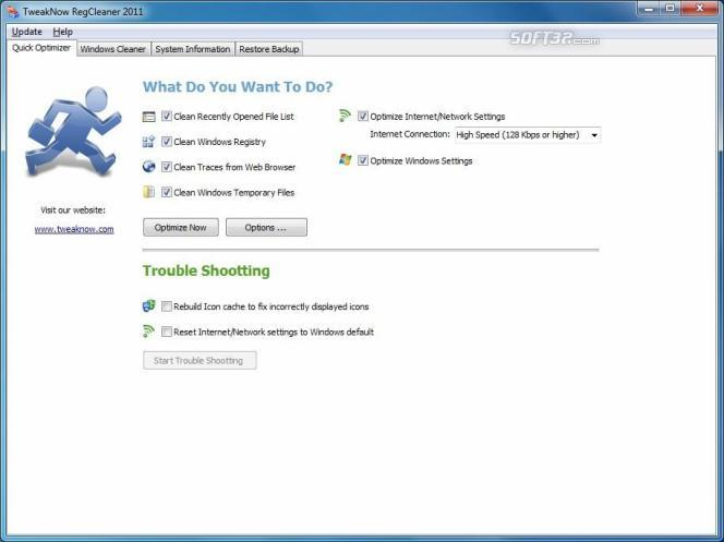 TweakNow RegCleaner 2011 Screenshot 2