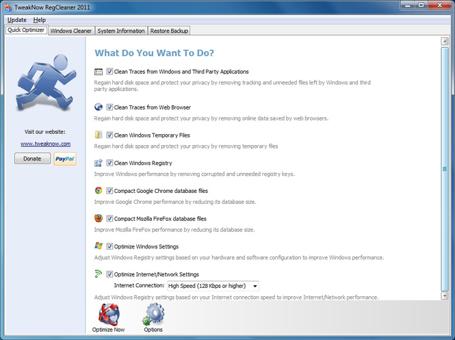 TweakNow RegCleaner 2011 Screenshot