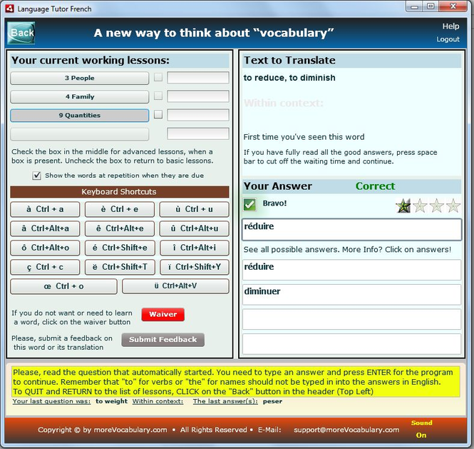 LanguageTutor French Screenshot