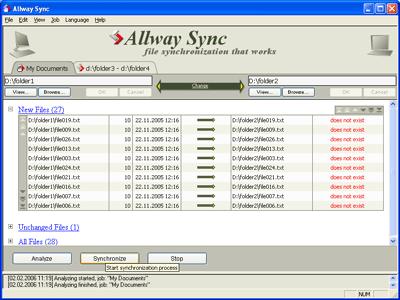 Allway Sync Screenshot