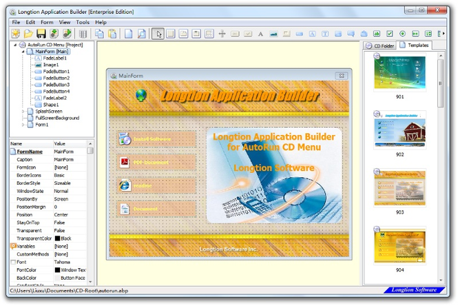 AutoRun CD Screenshot