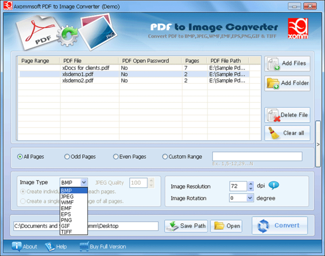 Adobe Pdf to Image Converter Screenshot