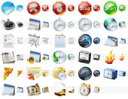 Large Calendar Icons Screenshot