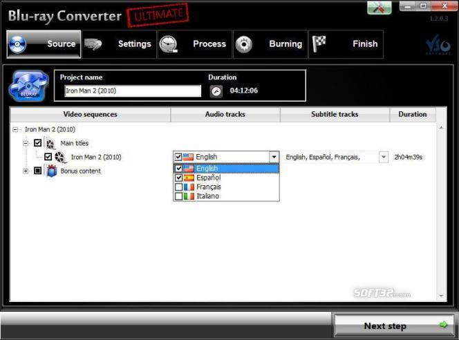 Blu-ray Converter Screenshot 2