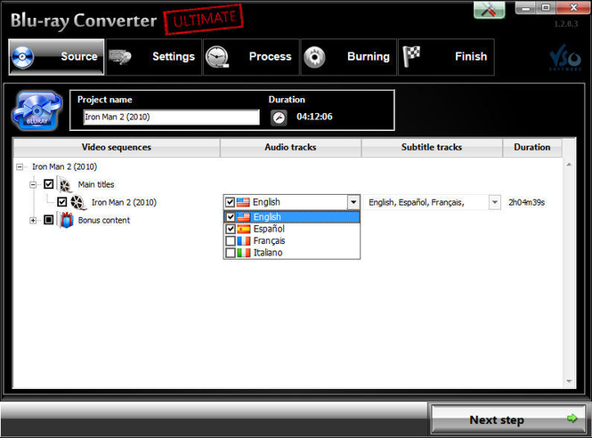 Blu-ray Converter Screenshot
