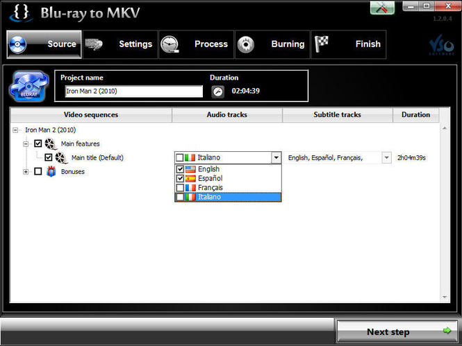 Blu-ray to MKV Screenshot 1
