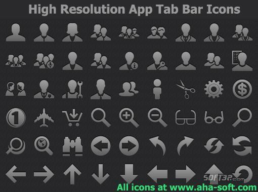 High Resolution App Tab Bar Icons Screenshot 2