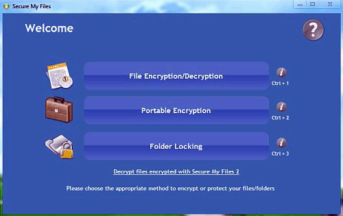Secure My Files Screenshot