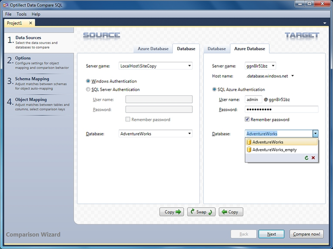 Data Compare SQL Screenshot 1