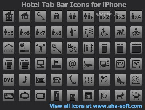 Hotel Tab Bar Icons for iPhone Screenshot 2