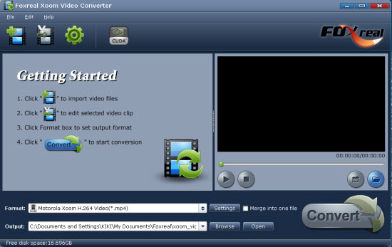 Foxreal Xoom Video Conveter Screenshot 1