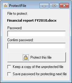 ProtectFile Screenshot
