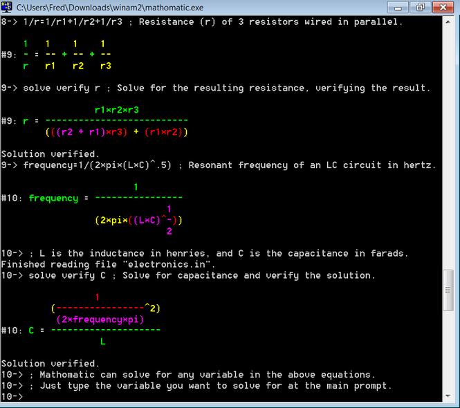 Mathomatic Screenshot 1