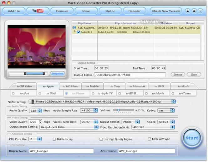 MacX Video Converter Giveaway Version Screenshot 2