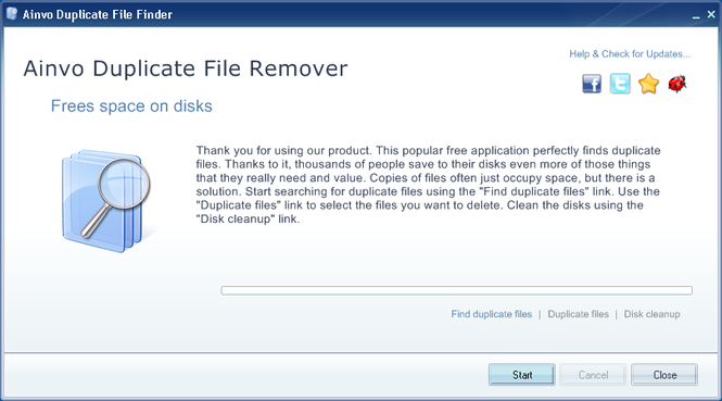 Ainvo Duplicate File Finder Screenshot 1