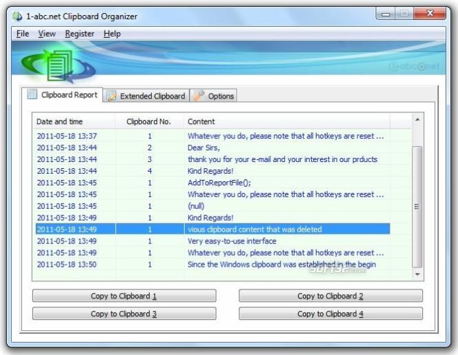 1-abc.net Clipboard Organizer Screenshot