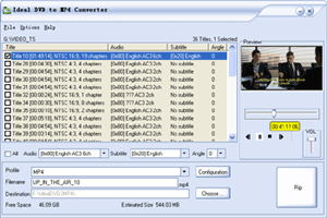 Ideal DVD to MP4 Converter Screenshot