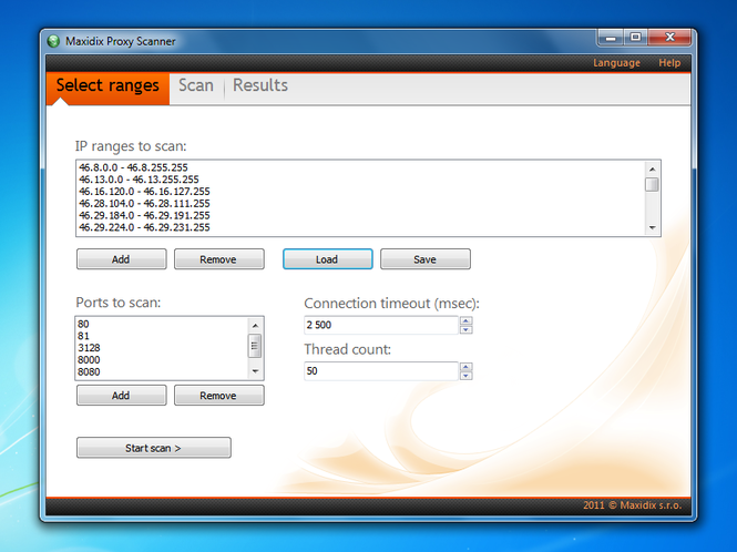 HTTP Proxy Scanner Screenshot 2