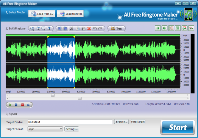 All Free Ringtone Maker Screenshot