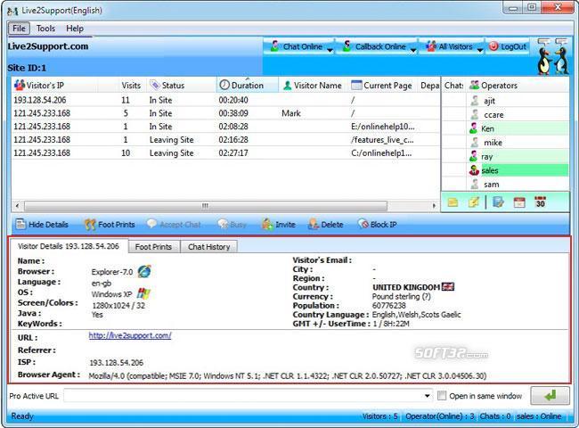 Live2support Live Chat Software Screenshot 2