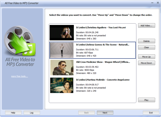 All Free Video to MP3 Converter Screenshot 1