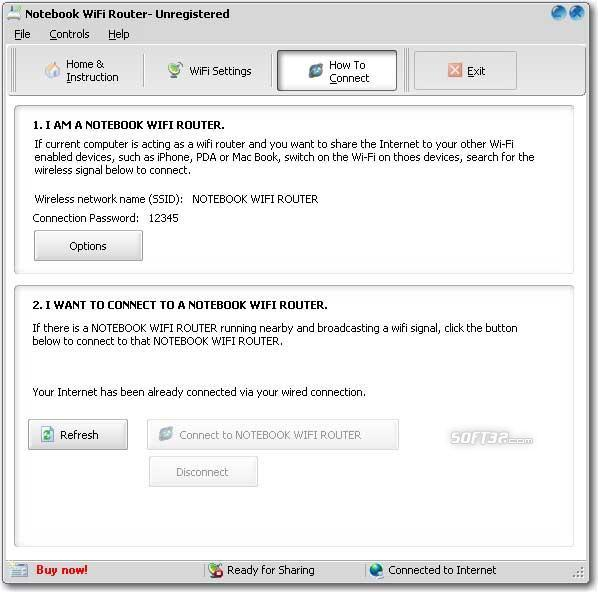 Gateway Notebook WiFi Router Screenshot 2