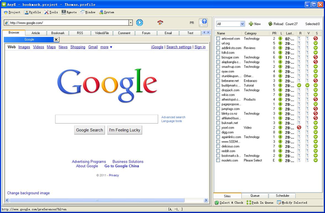 AnySubmitter Free Screenshot