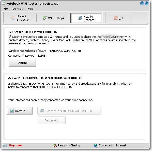 SAMSUNG Notebook WiFi Router Screenshot 2