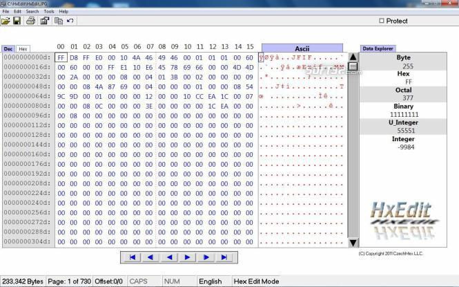 SB Hexidecimal Editor Screenshot 2