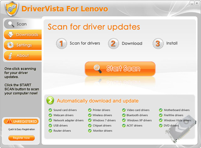 DriverVista For Lenovo Screenshot
