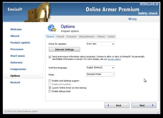 Online Armor Premium Firewall Screenshot 3