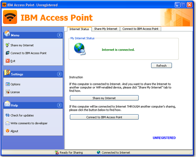 IBM Access Point Screenshot
