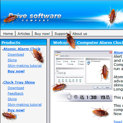 Cockroach on Desktop Screenshot