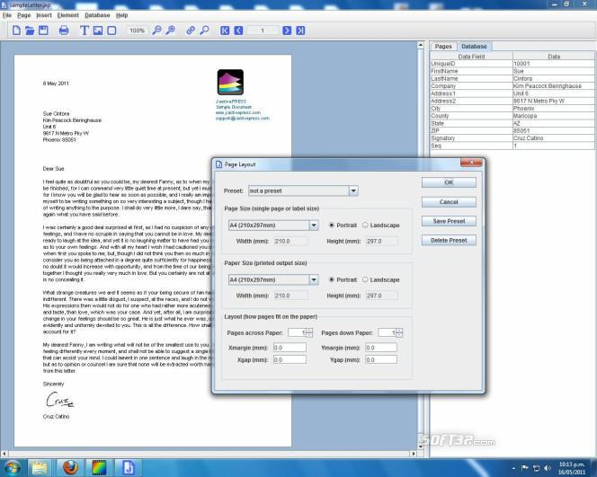 J-activePRESS Screenshot