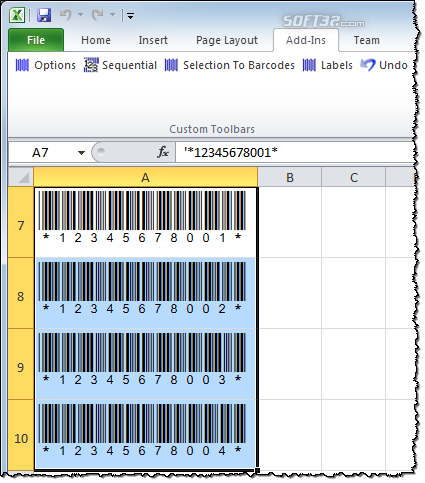 BarCodeWiz Code 39 Barcode Fonts Screenshot