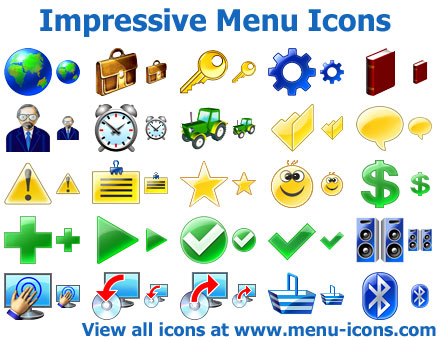 Impressive Menu Icons Screenshot