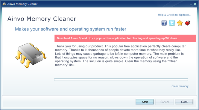 Ainvo Memory Cleaner Screenshot 1