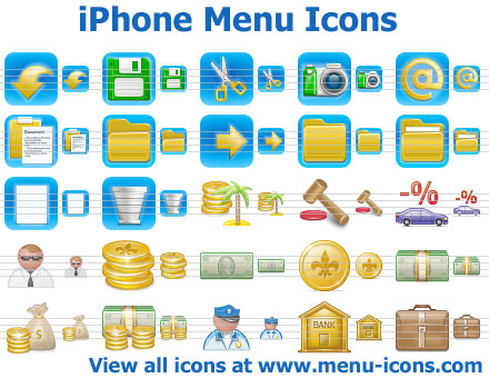 iPhone Menu Icons Screenshot 1