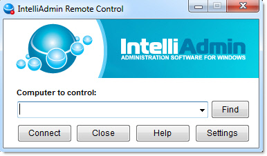 IntelliAdmin Remote Control Screenshot