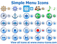 Simple Menu Icons 1