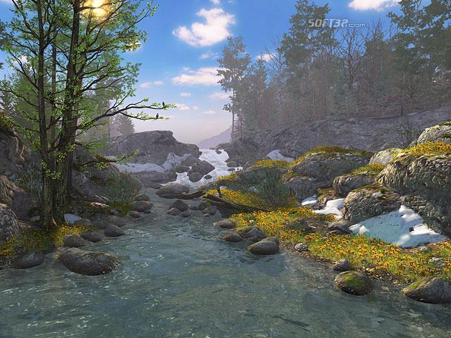 Springtime 3D Screensaver Screenshot 2