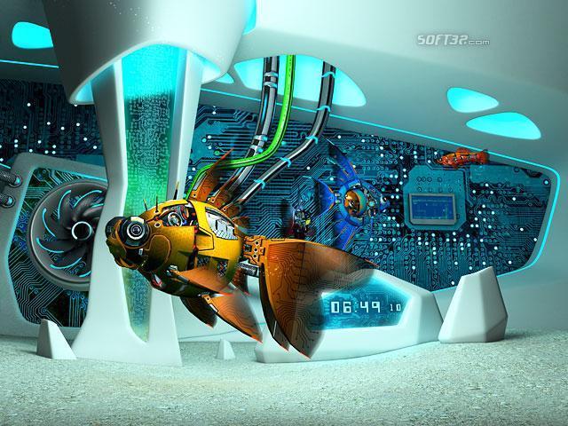 Cyberfish 3D Screensaver Screenshot 2