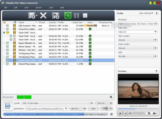 4Media PSP Video Converter Screenshot 2