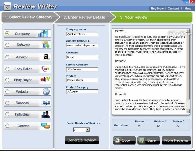 Review Writer Screenshot 2