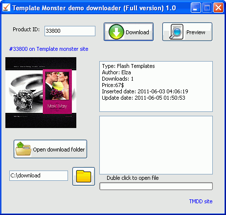 Template Monster Demo Downloader Screenshot